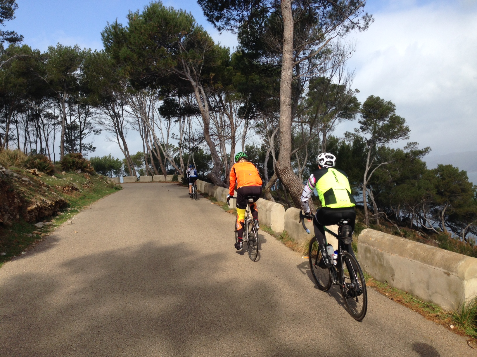 cyclists riding at cycling camp in Spain