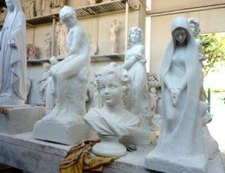 statue in marmo, arte funeraria, statue marmoree