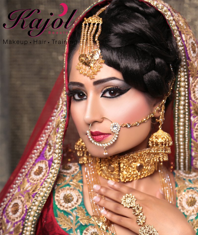 makeup and jewellery of  a Indian Bride