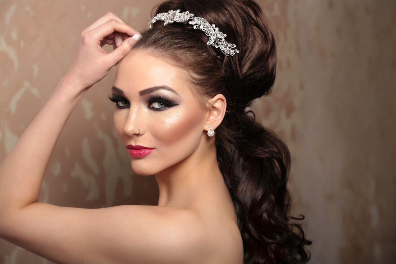 makeup and hairdo for brides