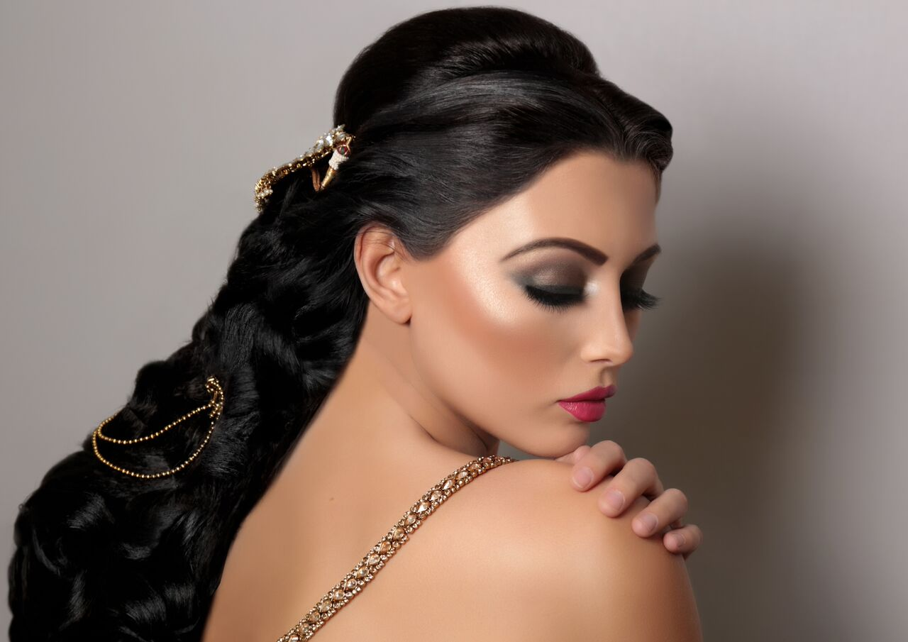 makeup and hair for brides