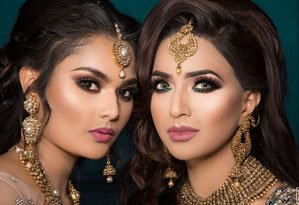 women with Indian makeup