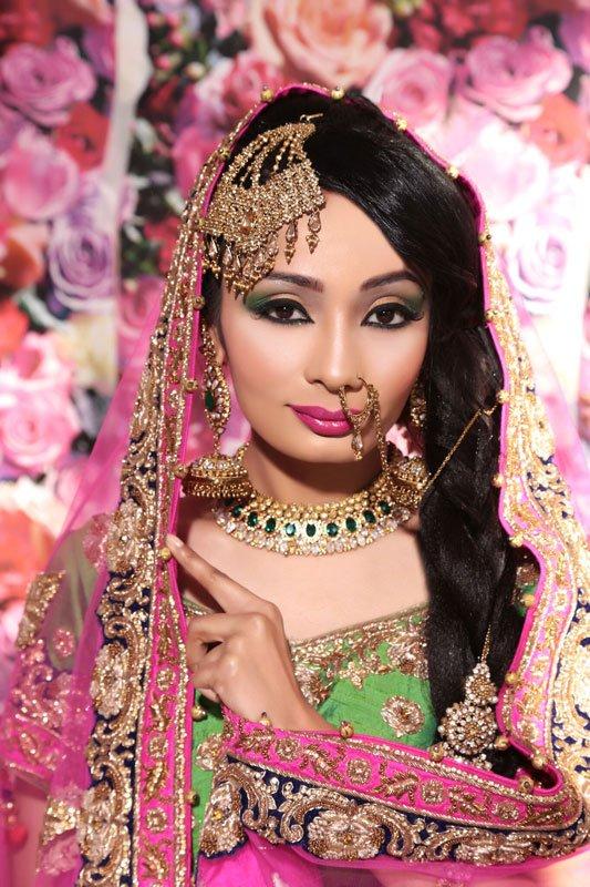 eye makeup for a bride