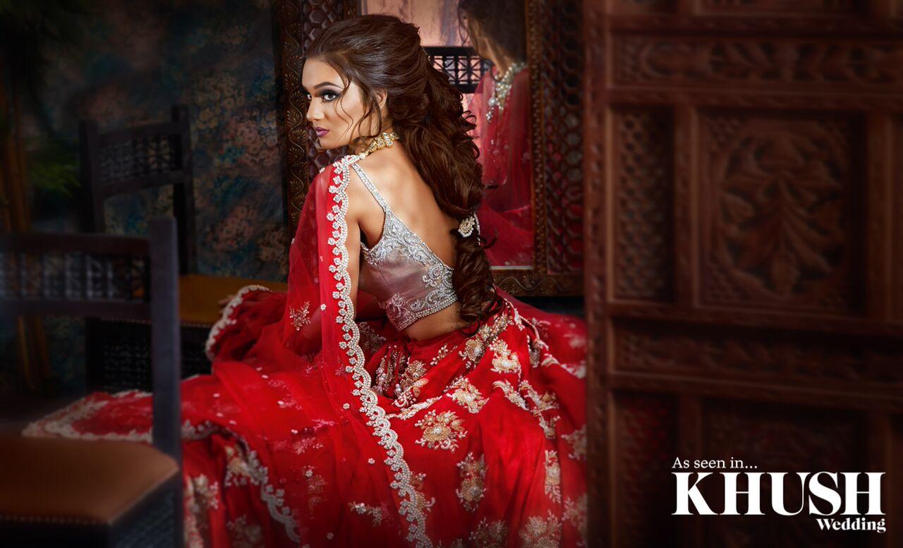 woman wearing a half saree