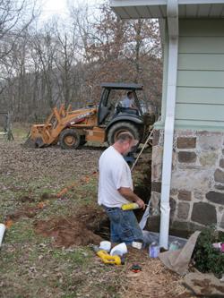 Experts providing plumbing service