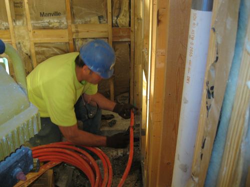 Experts providing plumbing service