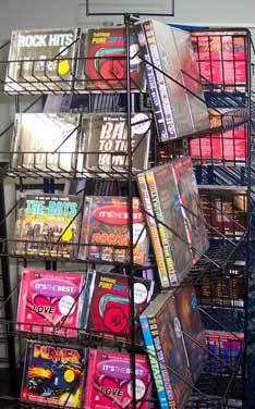 magazine display cd rack