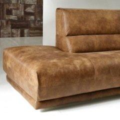 divani in pelle marrone