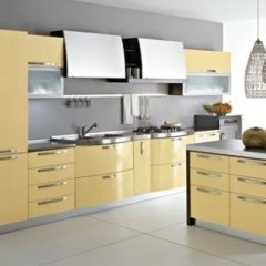 cucina laccato giallo