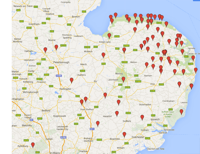 Norfolk Farm Map