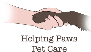 Helping Paws Pet Care company logo