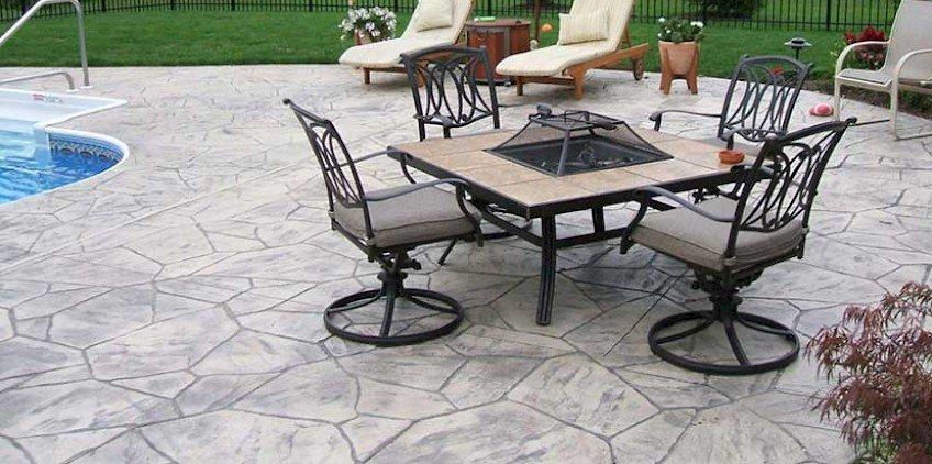 Concrete Patio Columbus Ohio Stamped Concrete Patios