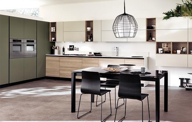 cucina scavolini lampada e tavolo