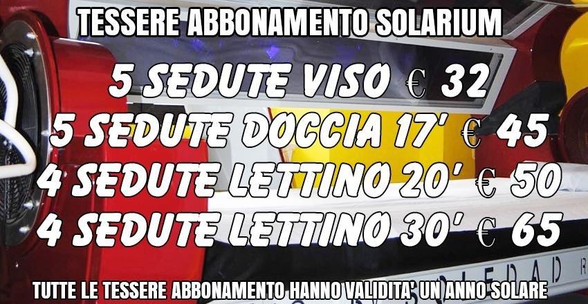 tessere abbonamento solarium
