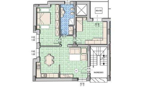 mapa di alligio con due camere da letto e un bagno