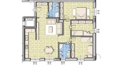 mapa di alligio con tre camere da letto e due bagni