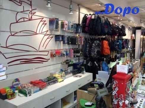 negozio di vestiti dopo