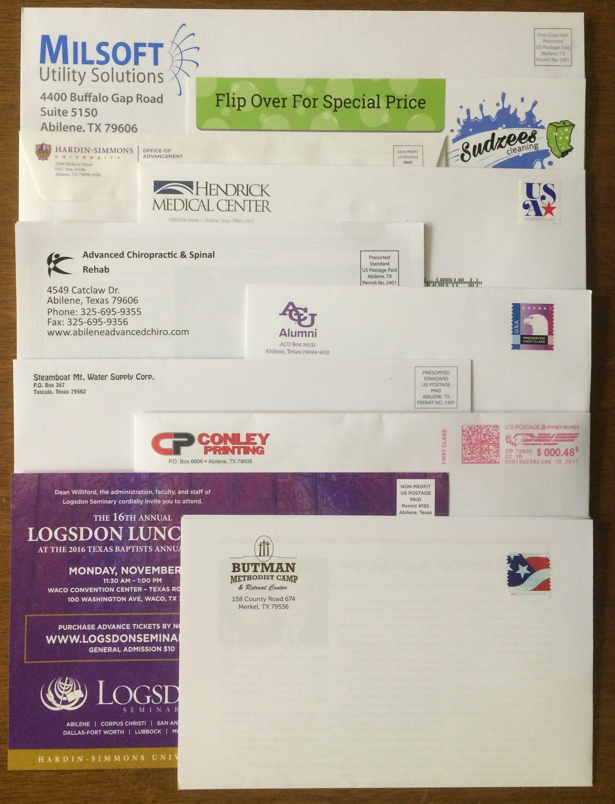 Direct Mail Abilene, TX