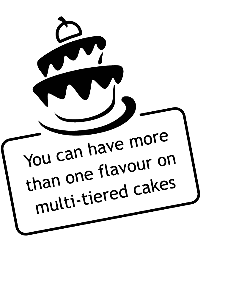 Refined Cakes multi-tiered cake flavours