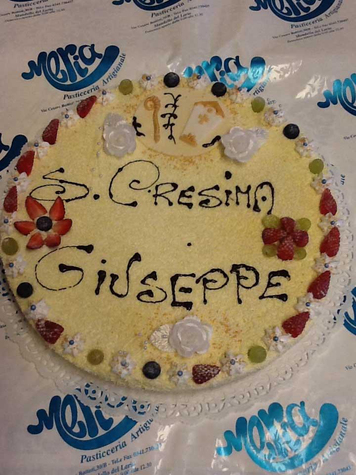 torta per la cresima di Giuseppe