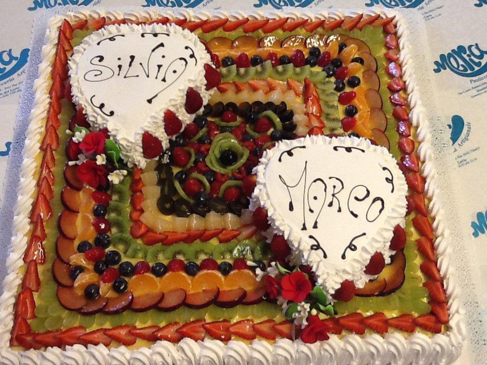 torta alla frutta per Silvia e Marco