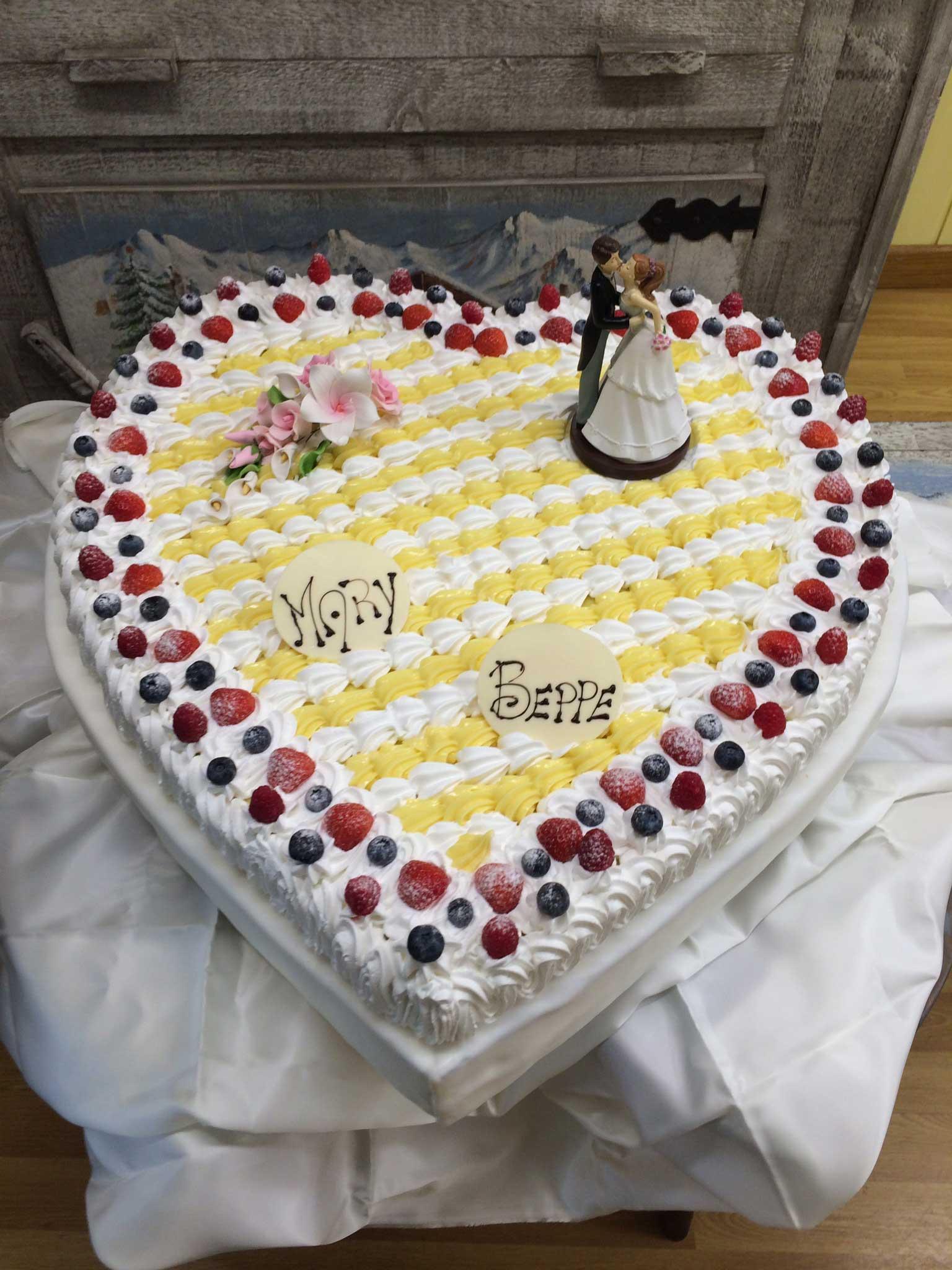 torta di matrimonio Mary e Beppe
