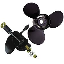 View of a black propeller