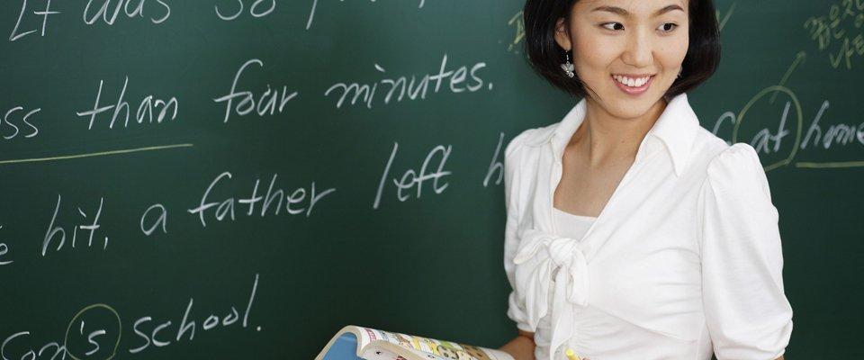 teacher giving lessons