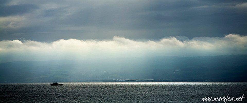 boat across the sea