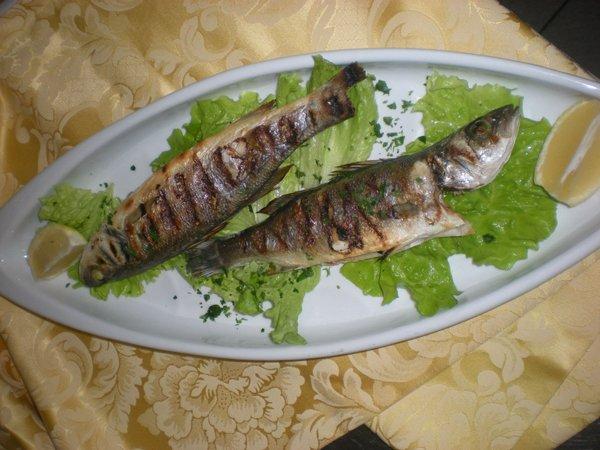Piatto a base di pesce