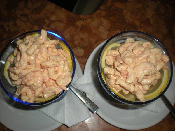 gamberi in salsa rosa