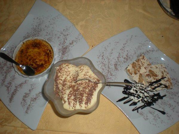 degustazione di dessert mascarpone crema catalana