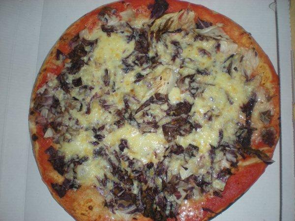 pizza con radicchio rosso