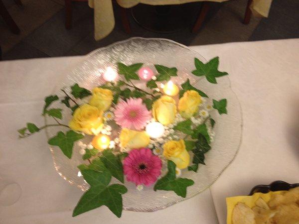 piatto con fiori