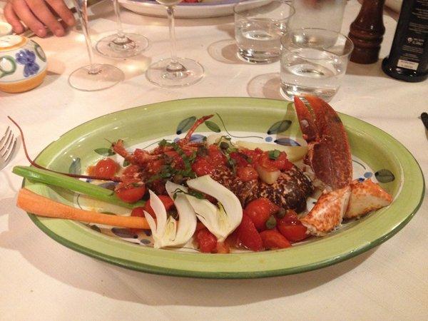 ricetta astice con pomodorini e verdure