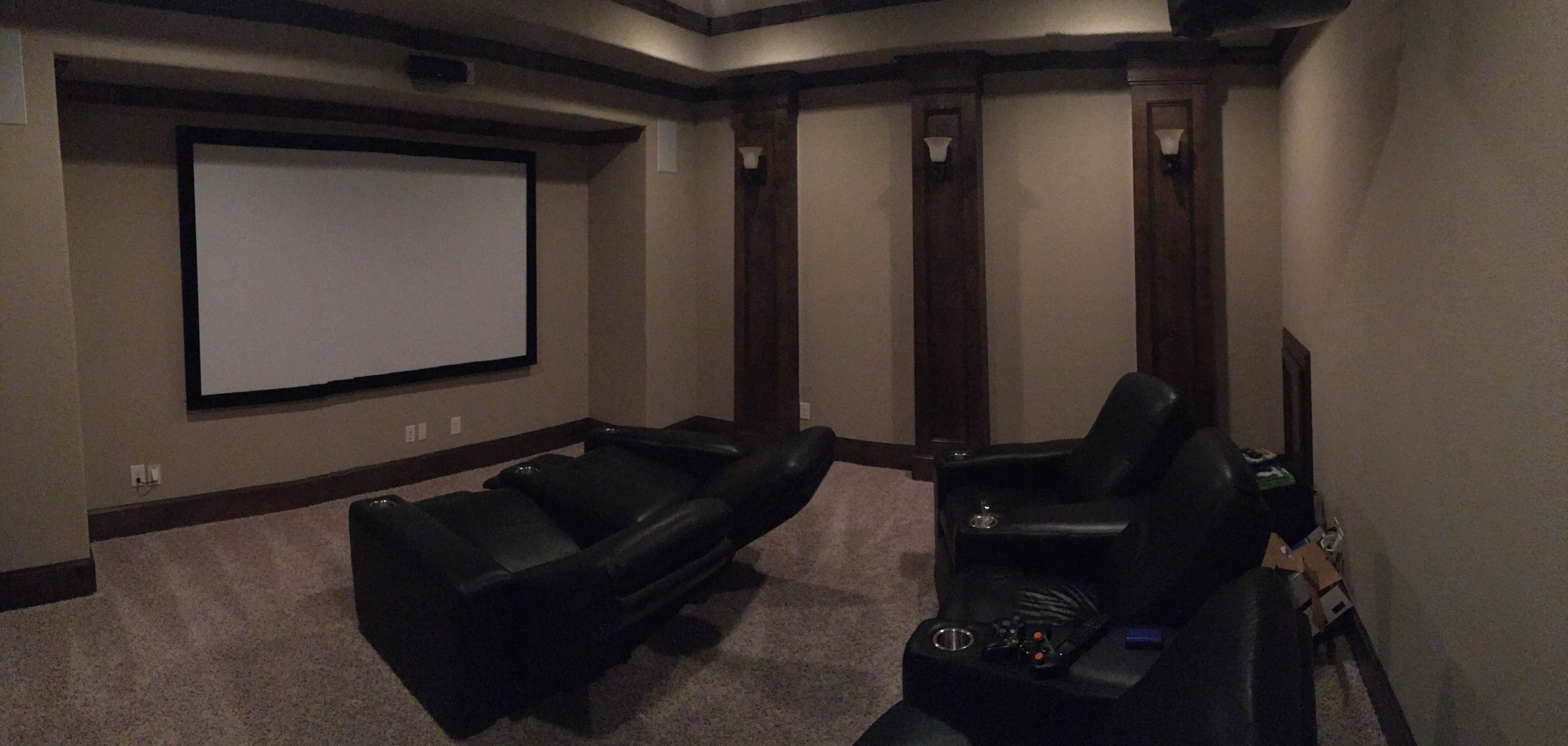 Custom Media Room Installation Houstin, TX
