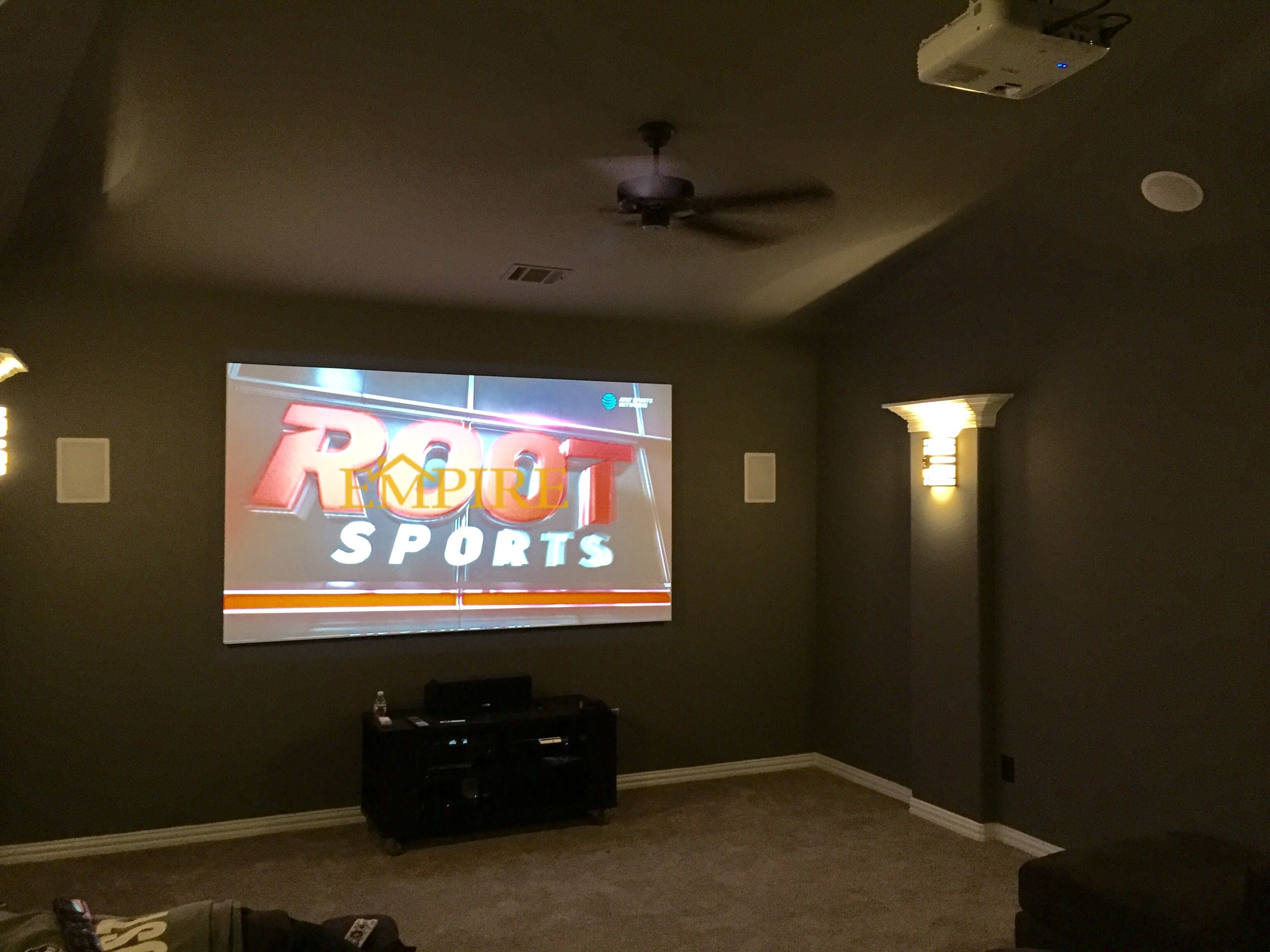 security camera installation & custom home theater room in austin