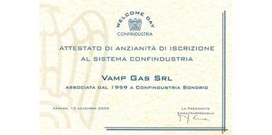 Attestato iscrizione Confindustria