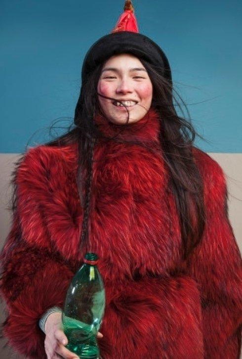 giacca marmotta rossa