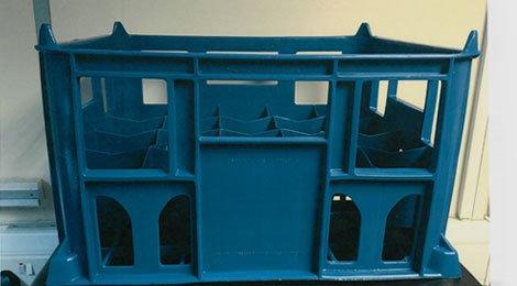 deep bottle crate in dark teal blue