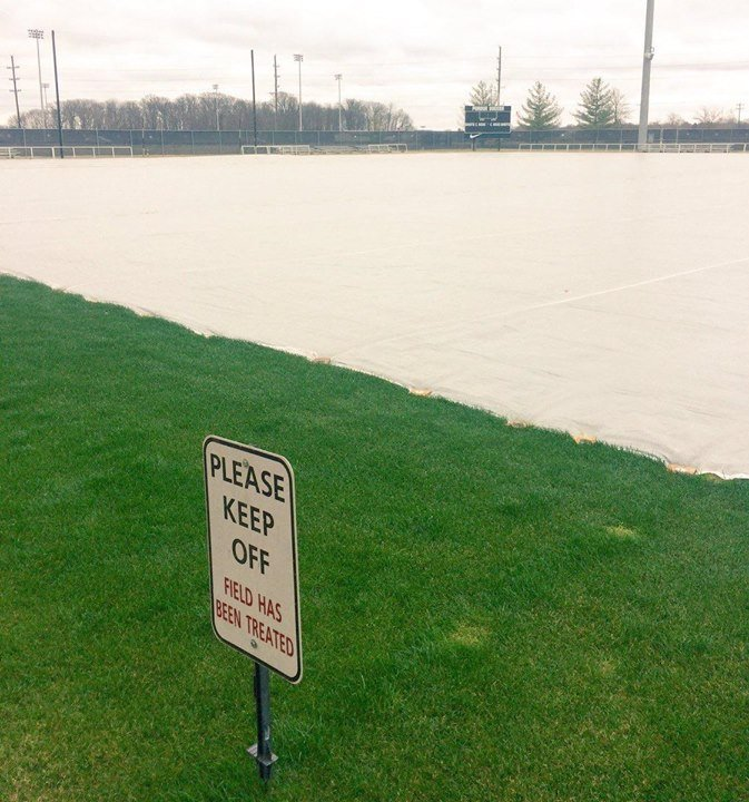 Cover-Tech turf covers on the Boilermakers soccer field at purdue university