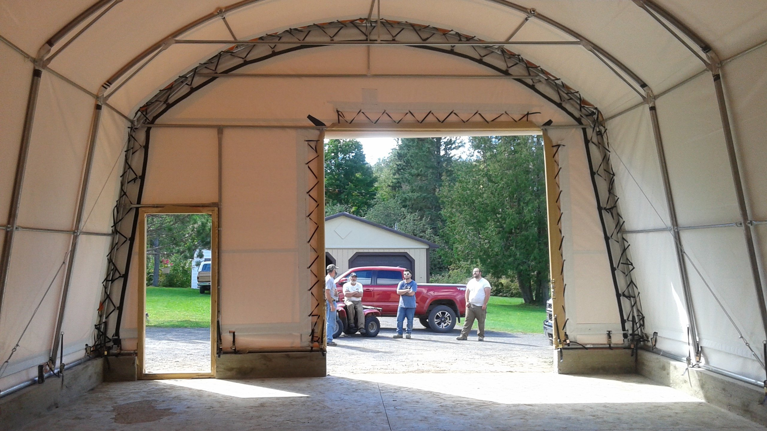 HEAVY TRUCK GARAGES cover-tech inc. call toll free 1-888-325-5757