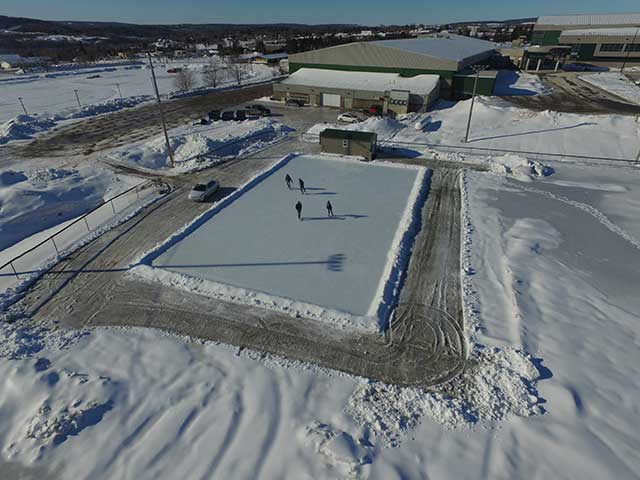 COVER-TECH | Skating Rink Liners | Backyard Ice Rinks