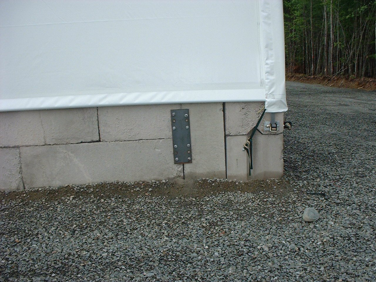 Cover-Tech Buildings can be mounted to many different foundation types to suite your needs.