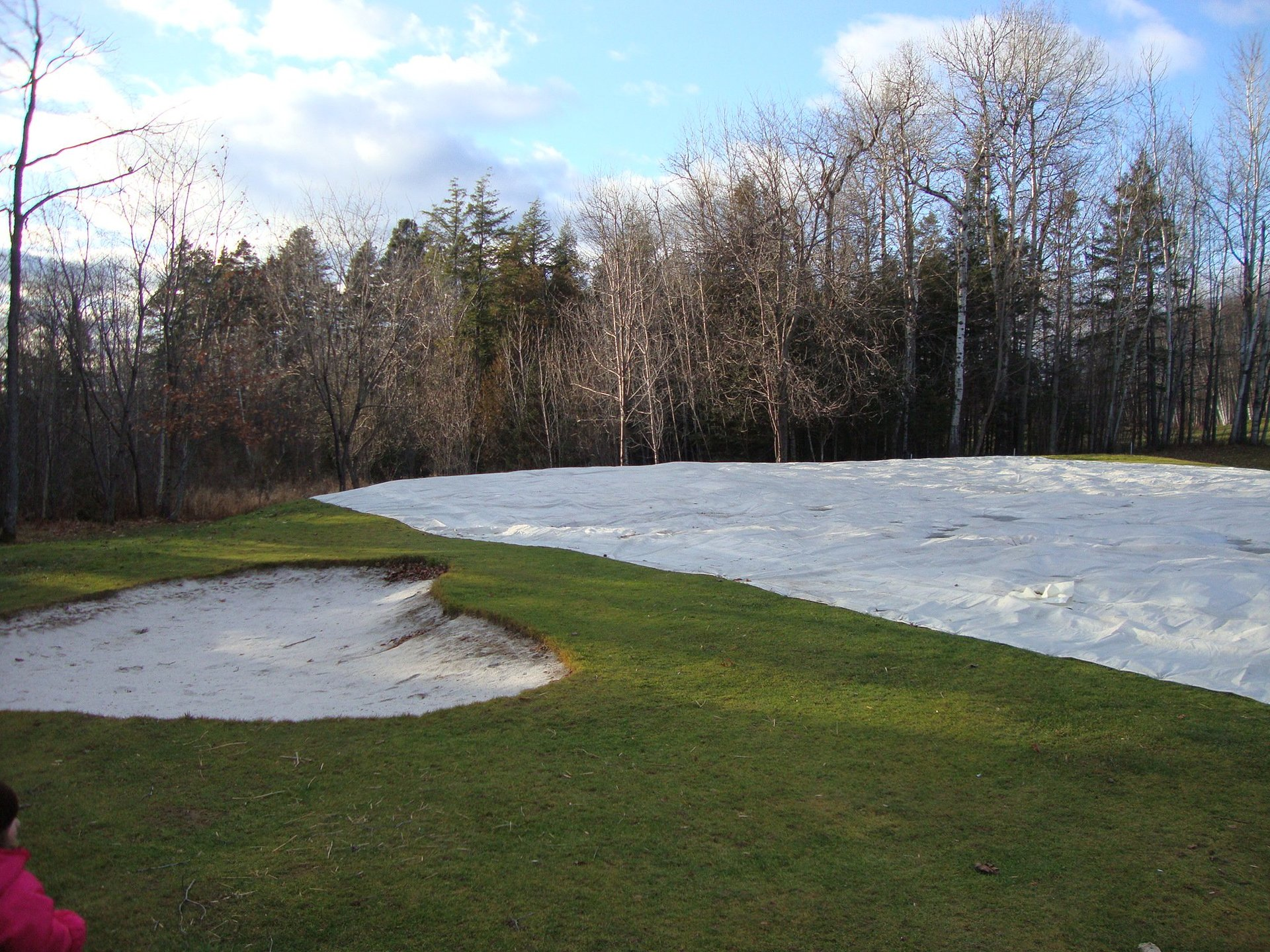 Example Picture Below 72' x 96' water proof ice shield cover in 16 mil