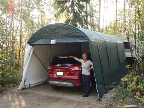 Maya and Barry Scott Cover-Tech Inc. Portable Garage Testimonial Picture