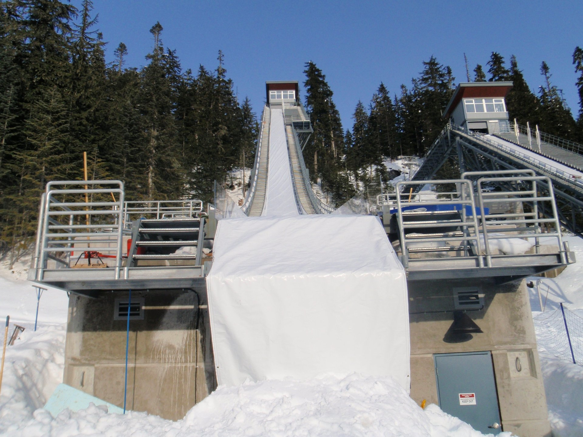 Our  Heavy Duty Insulated Tarp Covering Ski Jump at the Vancouver 2010 Olympic