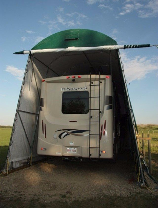 RV GARAGES cover-tech inc. call toll free 1-888-325-5757
