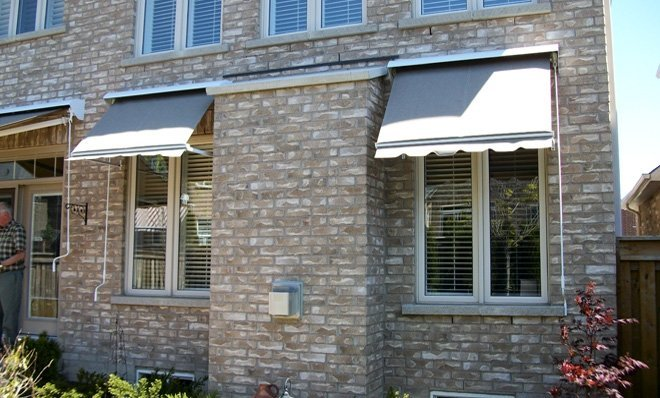 Installing a drop arm or basket awning can save you money