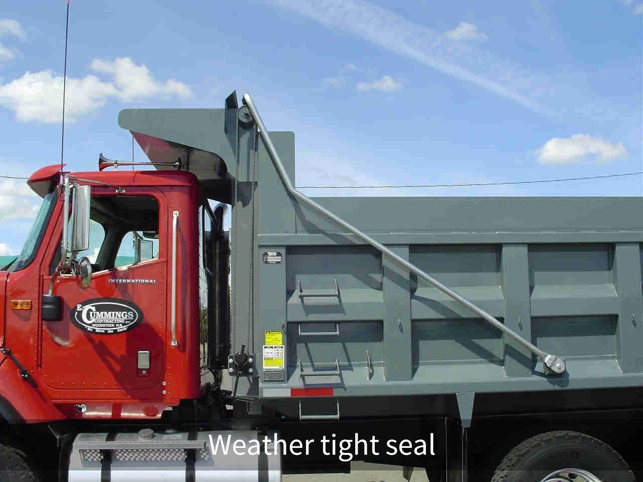 Roll tarp systems Weather tight seal